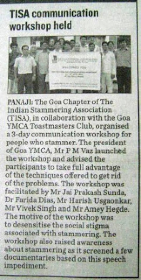 TISA Workshop in Goa – Another news item appears