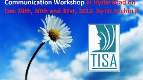 Communication Workshop in Hyderabad on Dec 29-31st  & AGENDA