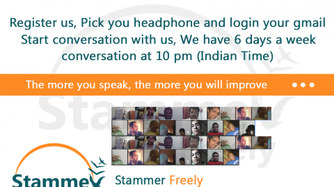 Stammer Freely Google Hangout Regular Conversation at 10 pm