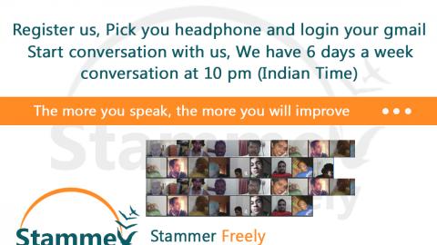 Stammer Freely Google Hangout Regular Conversation at 10 pm