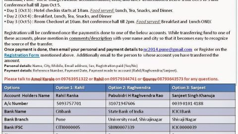 National Conference 2014 – Registration Deatils