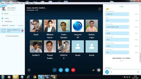 Daily Skype (9:30 PM to 11 PM)