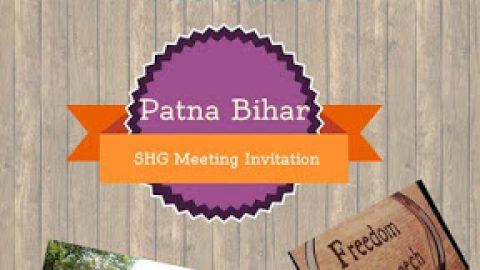 Patna Bihar SHG Meeting Invitation for 8 Nov