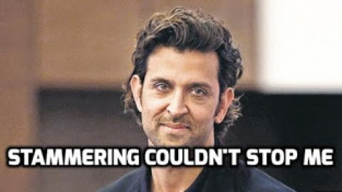 There is a way out of Stammering- Hrithik Roshan