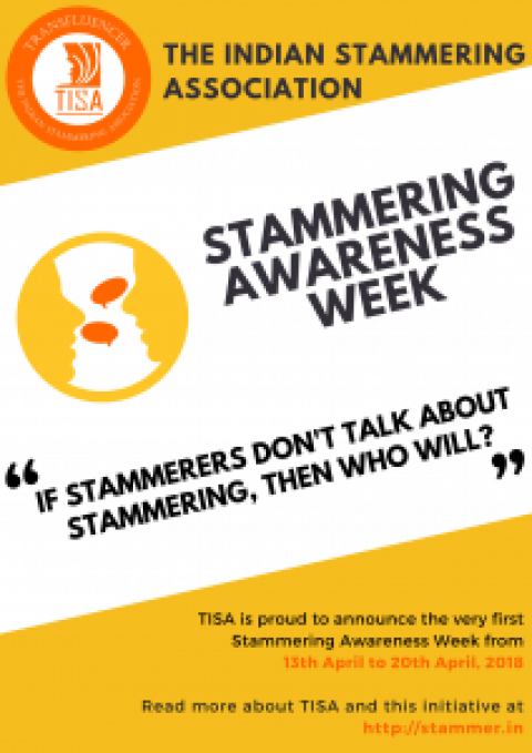 Announcing 1st TISA Stammering Awareness Week!