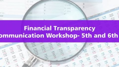 Financial Transparency- Gujarat Communication Workshop- 5th and 6th May 2018