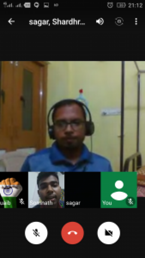 Report of Hangout Conducted on 08/09/2018