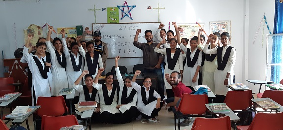 An interactive session with students